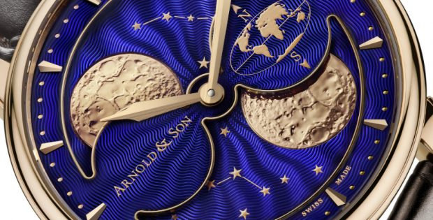 Presenting The Arnold & Son HM Double Hemisphere Perpetual Moon 42mm Replica Watch