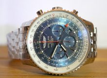 Breitling Navitimer GMT Aurora Blue Dial 48mm Case Replica