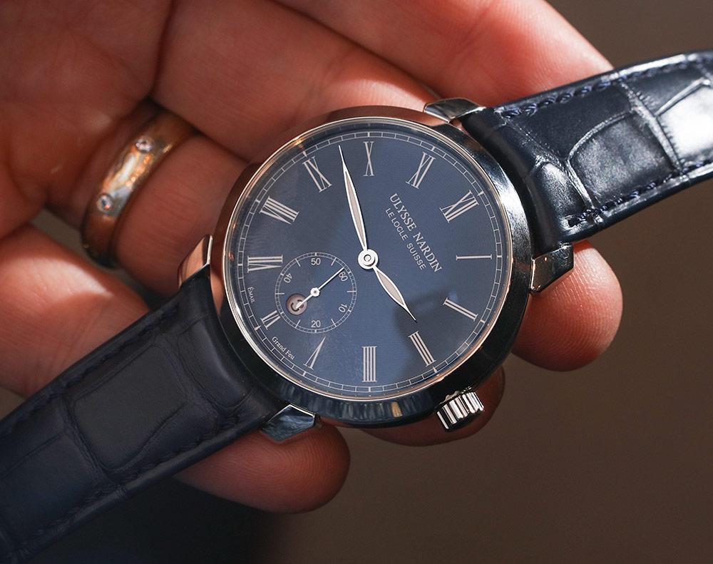 Ulysse Nardin Classico Manufacture 'Grand Feu' Blue Enamel Dial Watch Replica