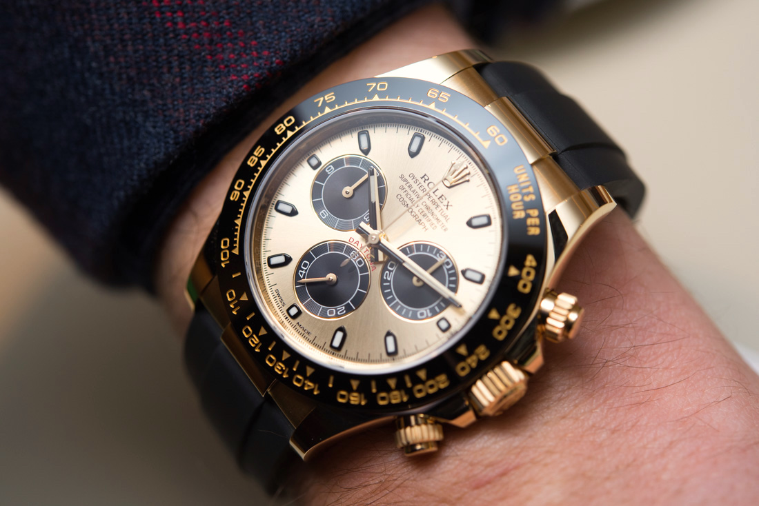 Luxury Rolex Cosmograph Daytona Watches In Gold With Oysterflex