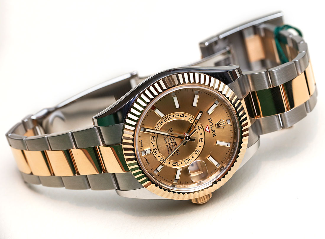 Do You Buy Rolex Sky,Dweller Watches In Two,Tone Steel