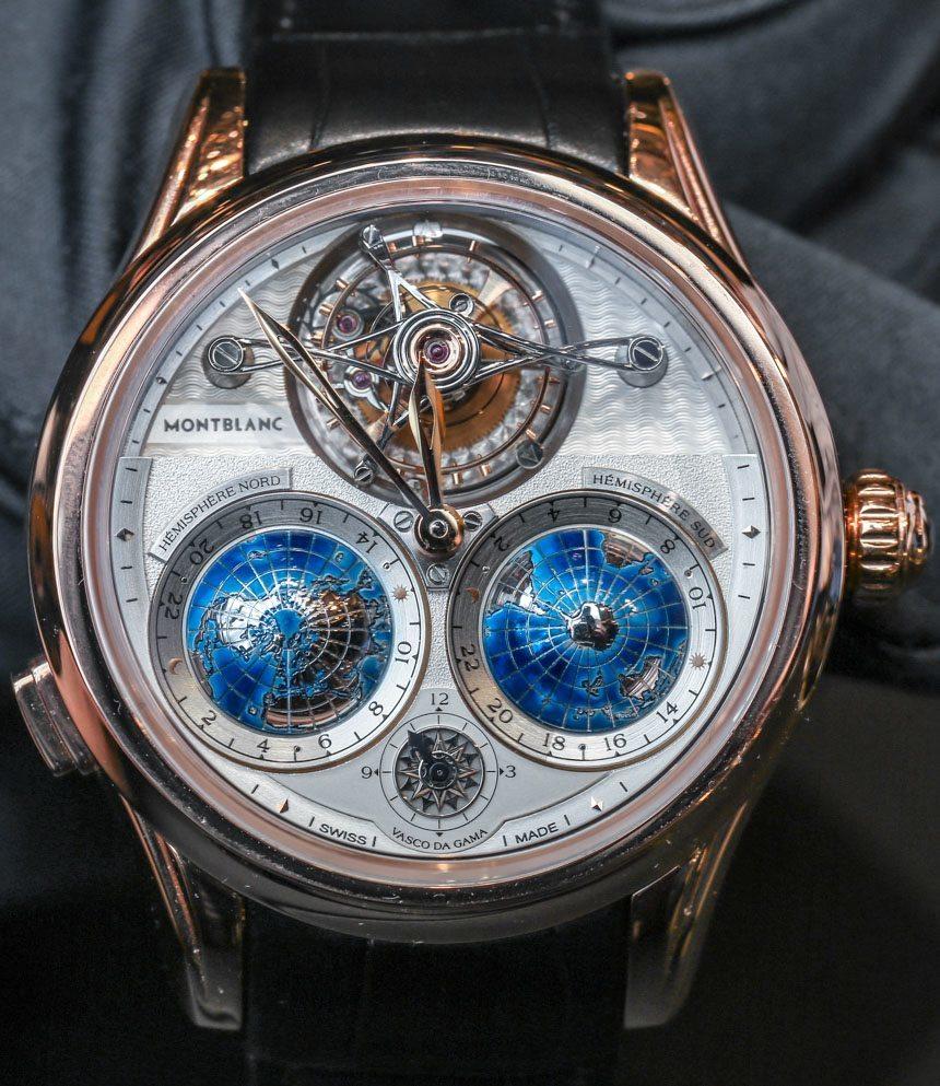 4bf4f62c665 Montblanc Collection Villeret Tourbillon Cylindrique Geosphères Vasco Da  Gama Watch Hands-On Hands-On
