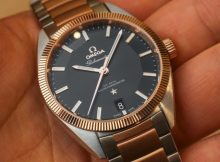 A Luxurious Version Of Omega Globemaster Two Tone Men's Replica Watch